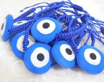 wholesale evil eye bracelet blue greek evil eye mati polymer clay charms protection bracelet wholesale jewelry greek jewelry summer jewelry