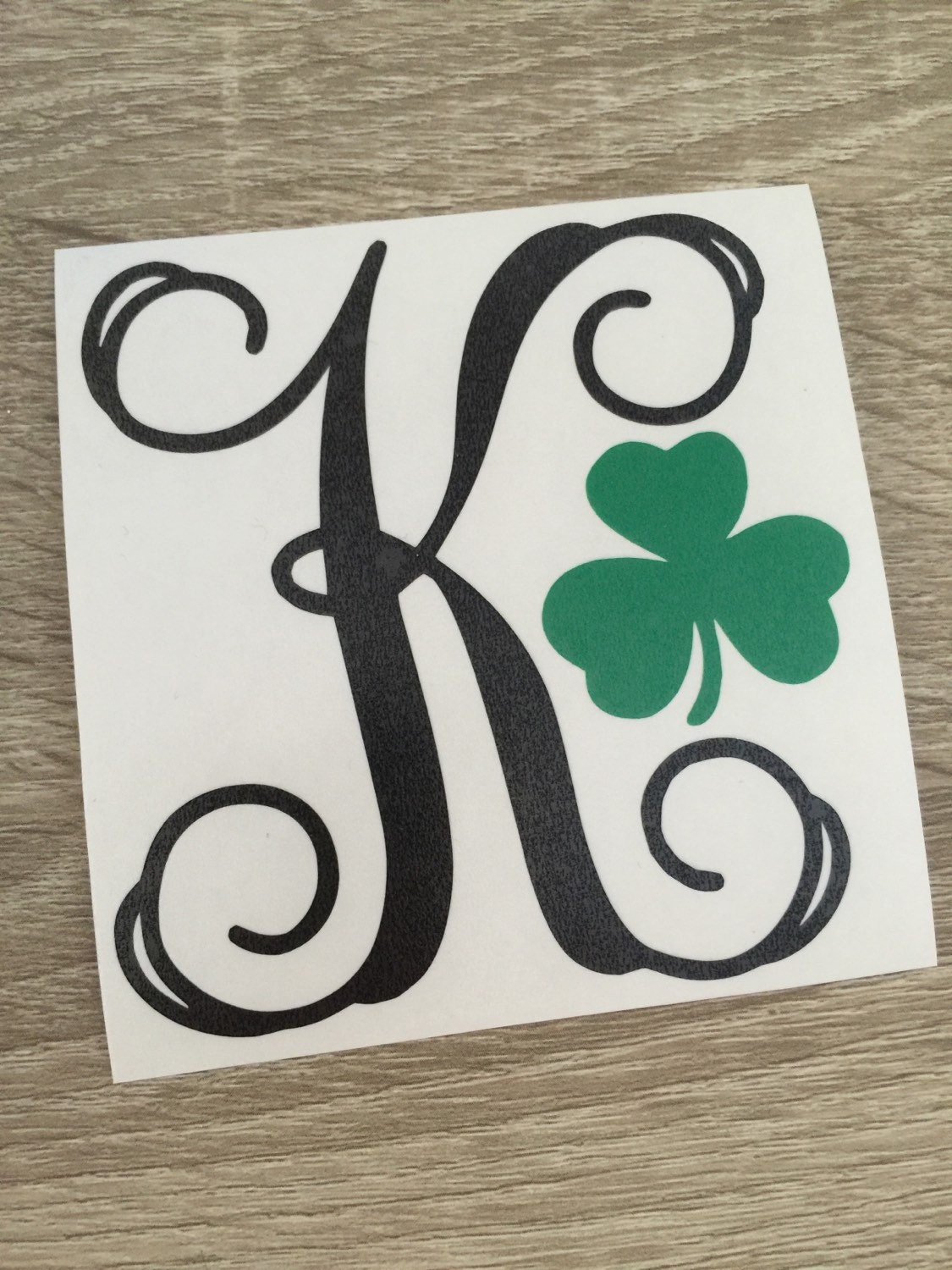 Letter Decals For Cups Letter Shamrock Decal For Car Laptop Cup Cell Phone Yeti
