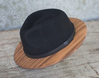 Black FEDORA hat (xl)