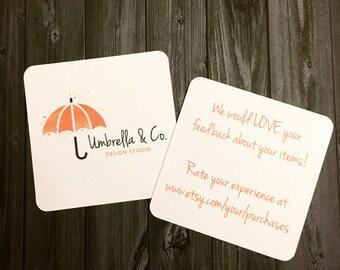 50 Custom Social Media Cards -  Double-Sided Social Media Cards - Business Cards - Small Business Cards - Mini Cards