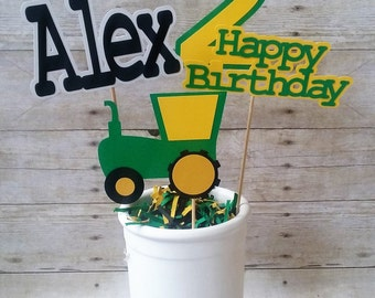 Tractor Centerpiece - personalized - party supplies - table decorations - boy birthday
