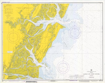 Sapelo Sound and Doboy Sound Georgia Map 1971