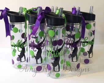 9 Gymnastics Tritan Water Bottles, Gymnastics Water Bottle, Custom Gymnastics Bottle, Gymnastics Team Gift, Gymnastics Coach Gift