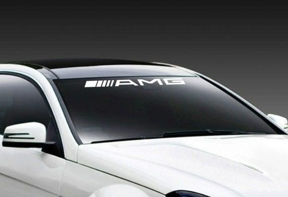 sticker autocollant de pare brise racing de amg mercedes benz. Black Bedroom Furniture Sets. Home Design Ideas