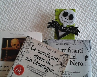Halloween Bookmark; Jack Skellington bookmark; Nightmare before Christmas bookmark; Gift for readers; Party favors.