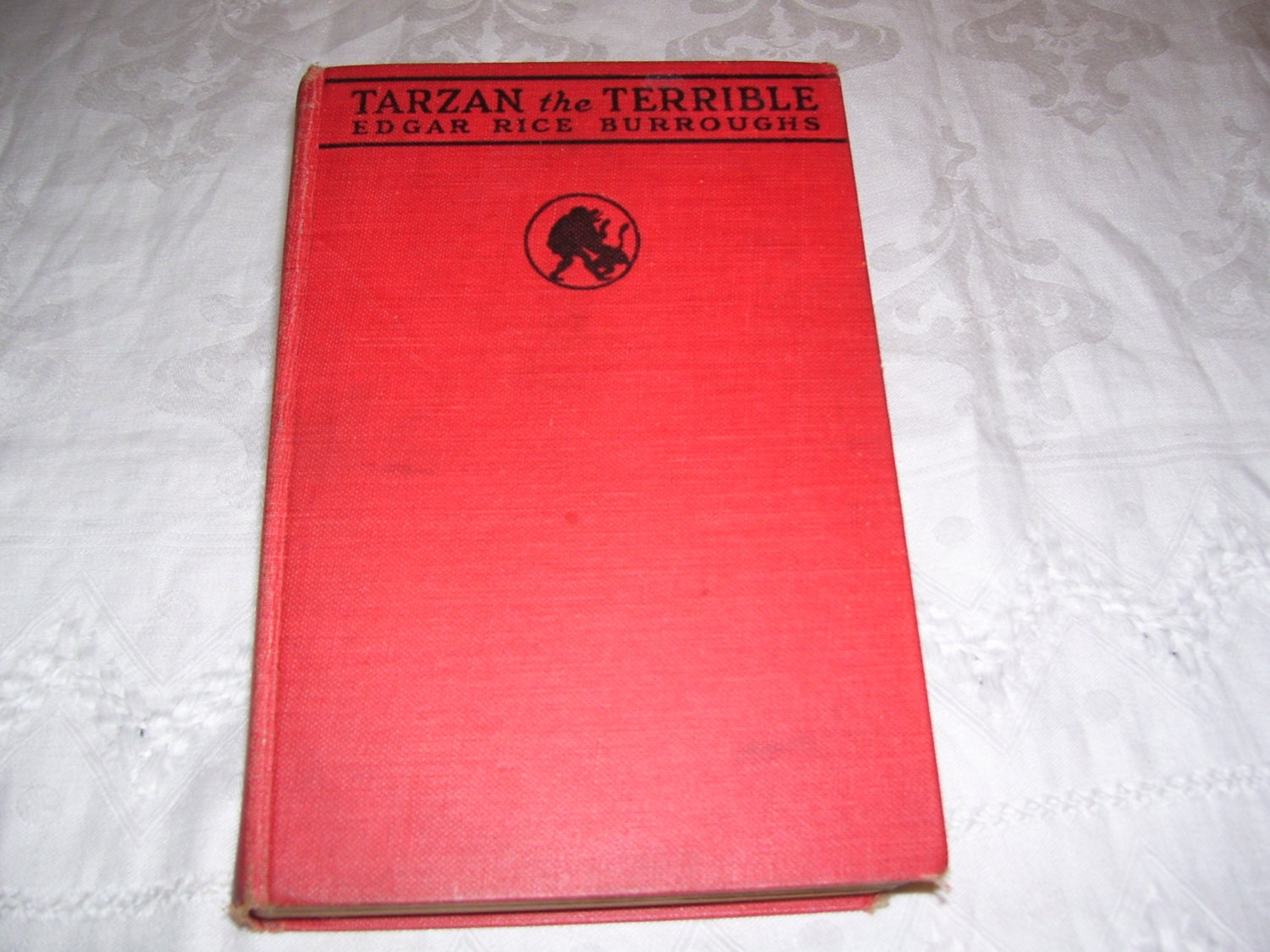 TARZAN THE TERRIBLE Edgar Rice Burroughs - TARZAN #8 - 1ST 1963 BALLANTINE ED