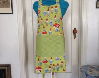 Kitchen apron with Garden gnome theme