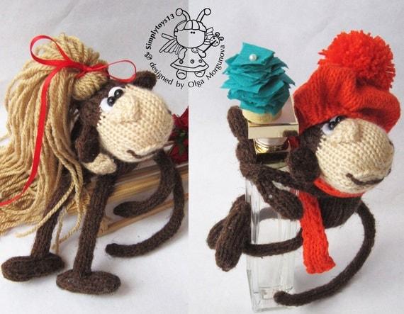 Amigurumi Monkey Keychain : Keychain monkey (two in one)- knitting pattern (knitted ...