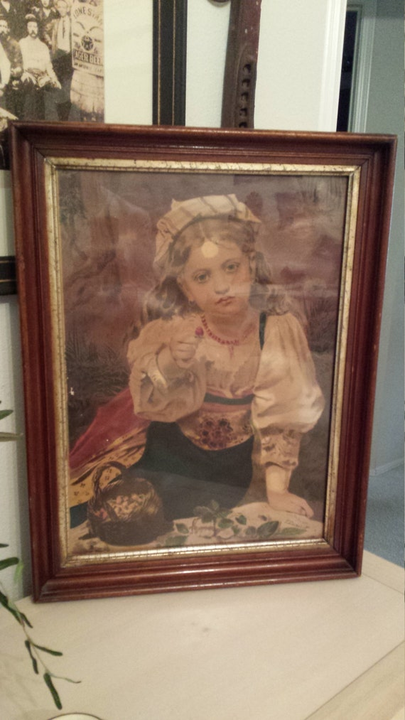 Gypsy girl framed picture