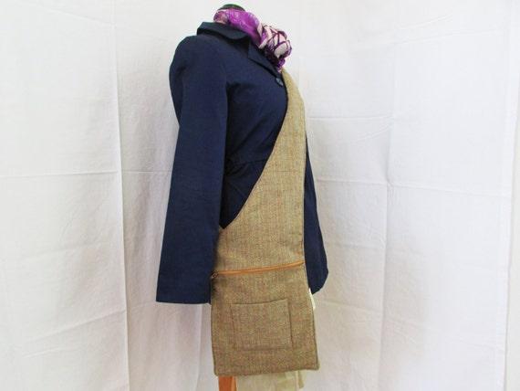 Beige Tweed Sling Bag