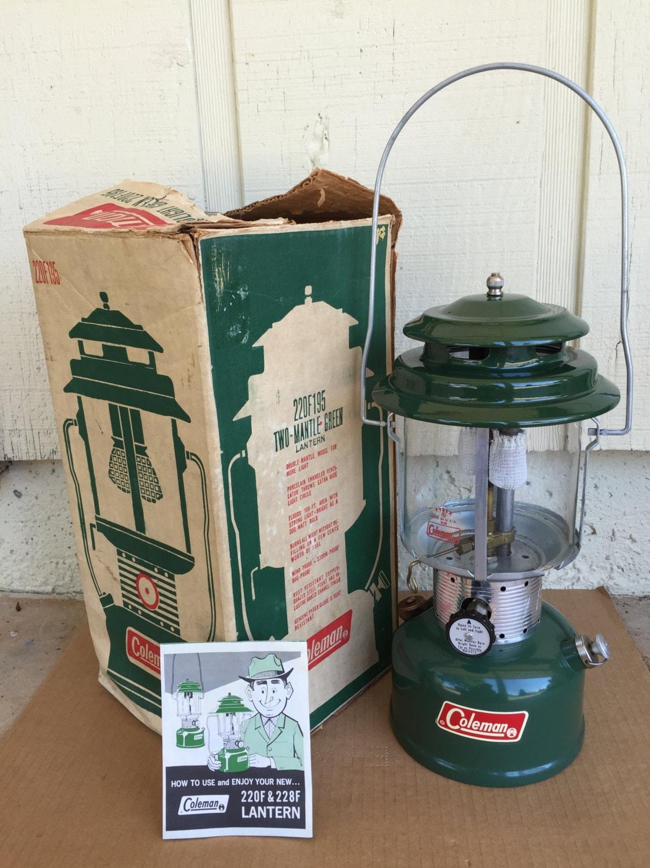 Gas Lantern Coleman lantern Vintage Camping Gear Camping