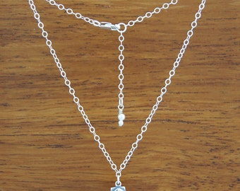 Clam Shell Adjustable Anklet - Sterling Silver