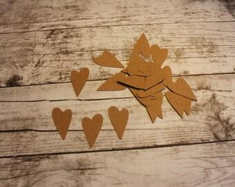 Heart Die Cut - Kraft - Paper - Pack of 25 - love, valentines day