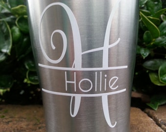 Yeti Decal | Yeti Rambler Decal | Yeti Tumbler Decal | Ozark Tumbler Decal | Split Letter for Yeti Cup | Ozark Decal
