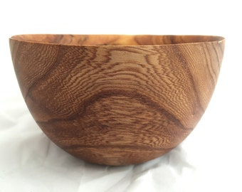 St Erth Elm No.8 Hand made Cornish Wood Bowl Turned By Zennor Made