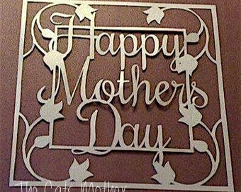 Mothers Day Paper Cutting Template - Commercial Use