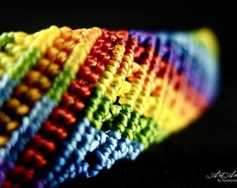 RAINBOW. Macrame bracelet.