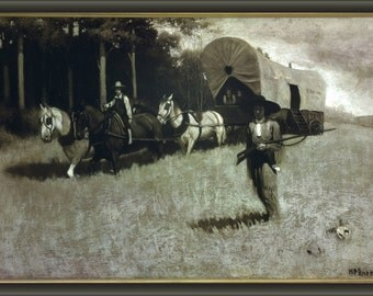 24x36 Poster . Scouting With Daniel Boone By Norman Rockwell 1914