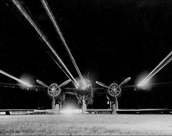 24x36 Poster . Douglas B-26B Invader B-26 Machine Gun Test 1952 Korean War