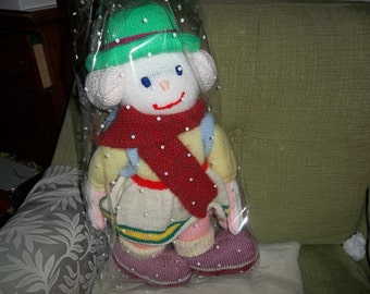 Large hand knitted clown