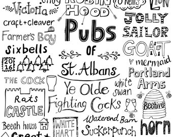 2016 Pubs of St. Albans print