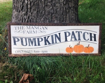 Pumpkin Patch Sign - Pumpkin Patch - Personalized Pumpkin Patch - Fall Decor - Wood Sign - Family Pumpkin Patch Sign