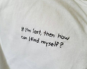 """The 1975 """"If I Believe You"""" Embroidered Tee"""