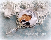 Christmas Ornament,Personalized Wedding Keepsake Ornament,Our First Christmas Photo Ornament, Christmast Memory Ornament, Custom Ornament