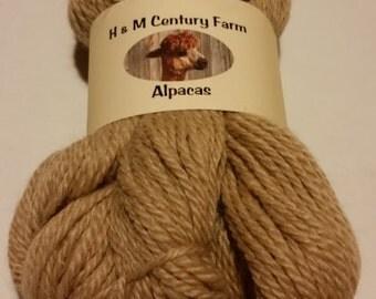 Alpaca Yarn - Worsted Weight Beige