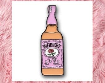"""Whiskey is my Love 1.25"""" Enamel Lapel Pin"""