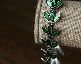 Green Leaf Style Bracelet