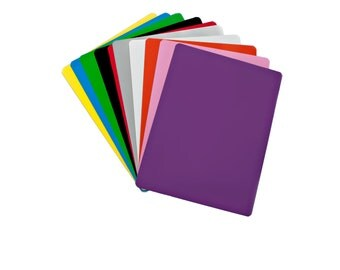 """Dry Erase Magnetic Sheet - 12"""" X 18"""" - 10 Sheets - Multiple Colors"""