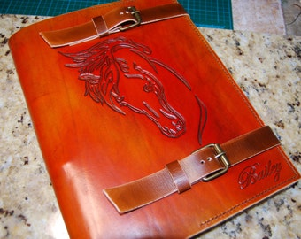 Leather Journal Big, Horse Journal, Leather Notebook, Handmade Journal, A4 Journal, Gift for Her, Gift for Him, Leather Diary