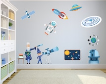 unique solar system decal related items etsy. Black Bedroom Furniture Sets. Home Design Ideas