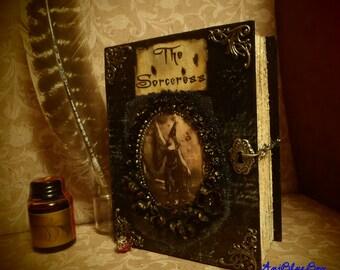 "Handmade Vintage Journal /Book of Spells ""The Sorceress"""