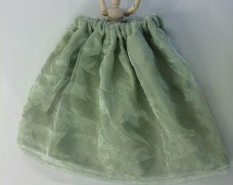 Little Girl's Tea Time Green Garden Skirt