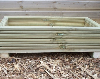 Decking  alpine garden planter,  outdoor wood alpine planter trough