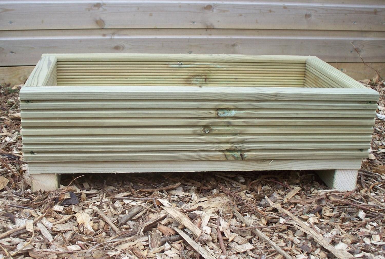 Decking alpine garden planter outdoor wood alpine planter for Garden decking planters