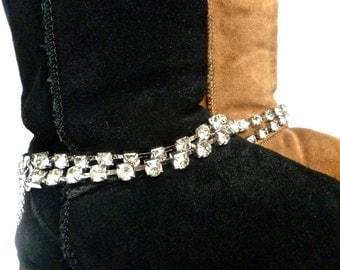 Ugg Rhinestone Sparkle Boot Jewelry - Boot Chains, Boot Bracelet, Boot Bling, Christmas gift