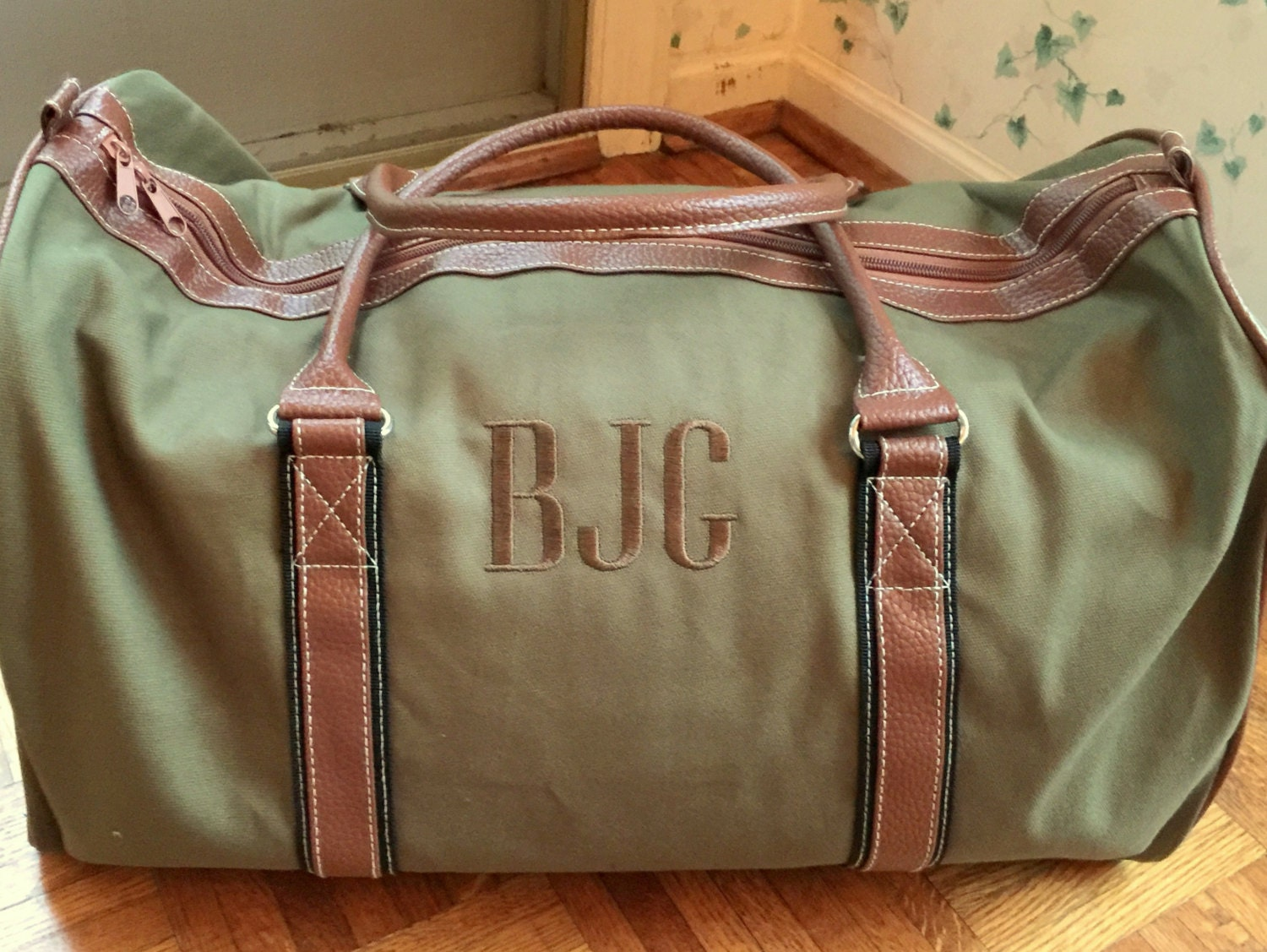 Personalized men s duffle bag monogrammed