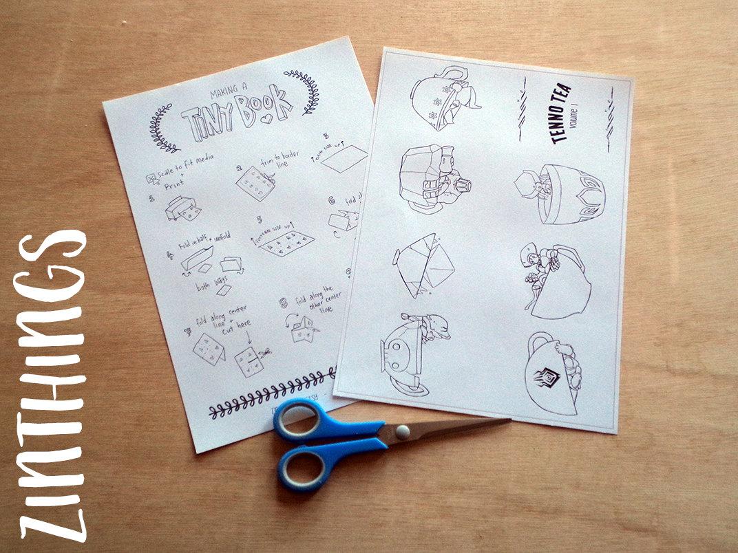 Coloring Book Zine : DIY Mini Zine Coloring Book Tenno Teas Vol. 1 Coloring Book Printable from ZinThings on ...