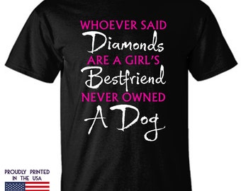 Gifts for Dog lovers Diamond are a girls best friend Ttd1