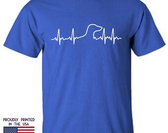 Dachshund Tshirt Dog Heartbeat Dachshund Tshirt