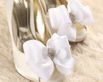 wedding shoe clip, bridal shoe clip, bow shoe clips, bridal shoes clips, wedding shoes clips, bow shoe clip, white shoe clips