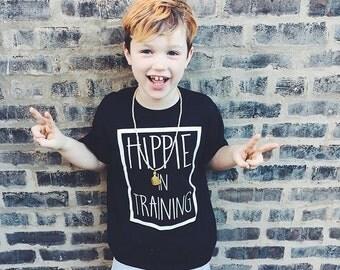 Hippie In Training TEE / kids tee / hip kid