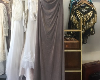 Taupe Goddess Gown