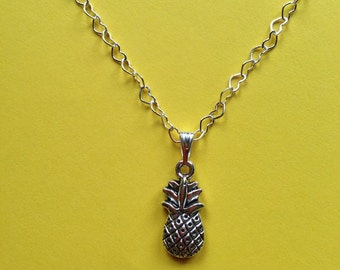 Silver Pineapple Love Necklace