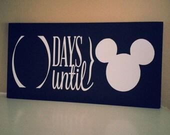 """Days Until .... 6"""" by 12"""" chalkboard"""