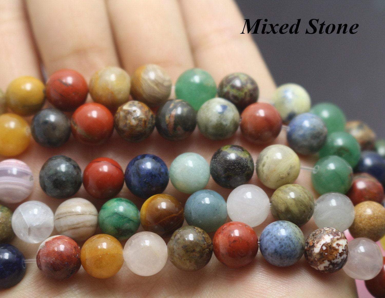 perles de pierre mixtes lisse naturel et perles de forme. Black Bedroom Furniture Sets. Home Design Ideas