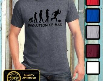 Funny Evolution of Man Bowling Tshirt Humor Darwin Tee Gift Ideas Bowling T-shirt